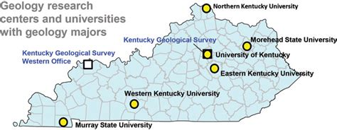kentucky colleges map kentucky earth science information sources