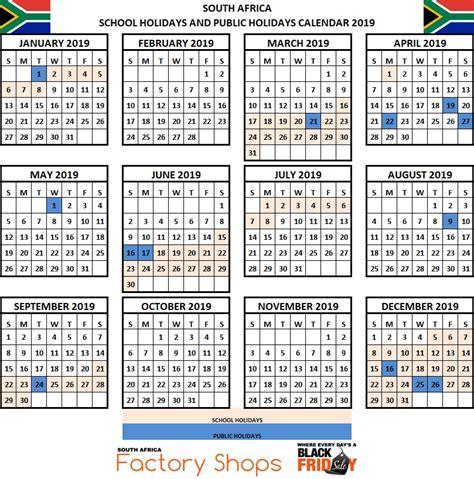 sa school terms  public holidays    africa wild