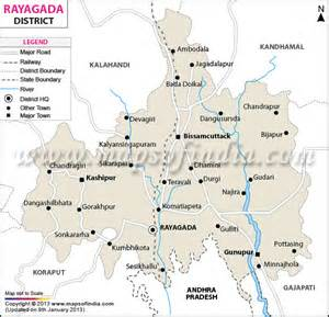 rayagada district map