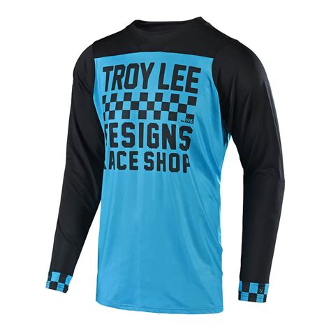Jersey Sepeda Tld 04 Pjg troy designs 2018 skyline checker ls jersey bicycle mx alliance