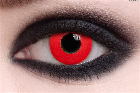 colored comtacts redout contact lens pair