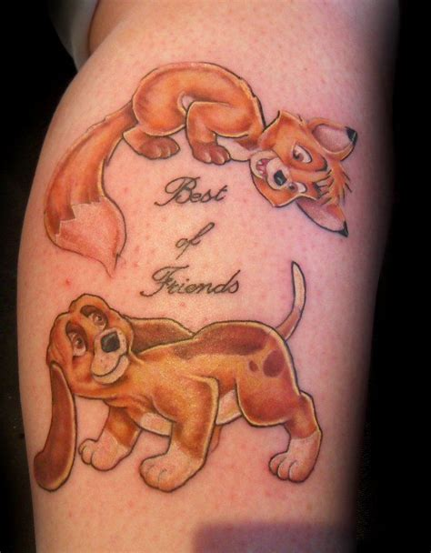 fox and the hound tattoo todd and copper amazing tattoos