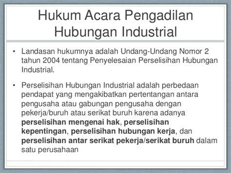 Hukum Acara Penyelesaian Perselisihan Hubungan Industrial Sg bahan kuliah hukum acara