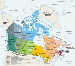 in canada map geography of canada