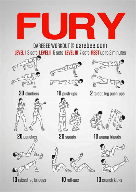 fury road bodyweight workout pop workouts