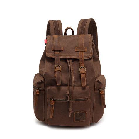 rucksack backpack vintage canvas leather backpack rucksack gentlemensjoggers