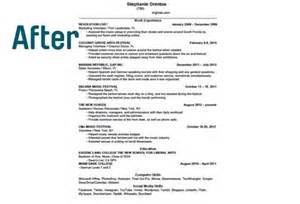 Resume After One One Page Resume Haadyaooverbayresort