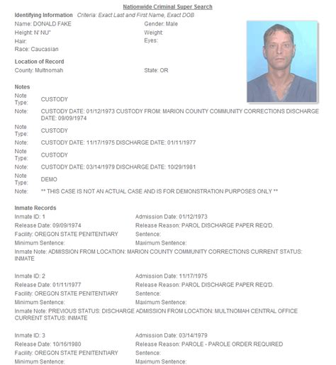 Personal Criminal Record Check Criminal Reports Now Include Subject Photos