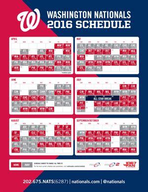 printable schedule washington nationals printable break schedules calendar template 2016