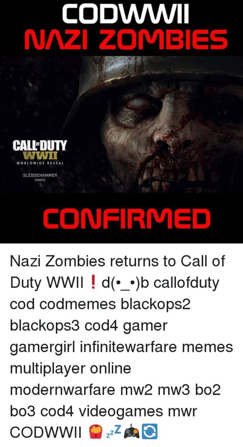 Cod Zombies Memes - codwwwii nazi zombies call duty wwii worldwide reveal