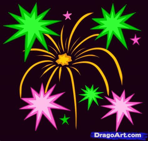 how to draw new year firecrackers fireworks
