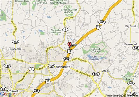 map of alpharetta map of hton inn suites alpharetta alpharetta