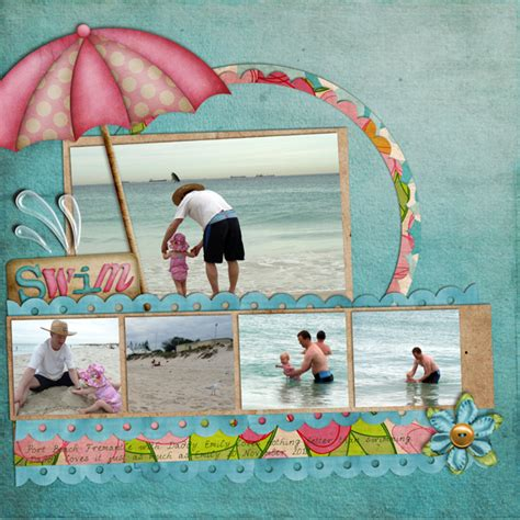 scrapbook layout beach beach scrapbook page layout quotes