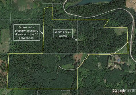 property line map mapping your forest with earth and a gps phone app treetopics