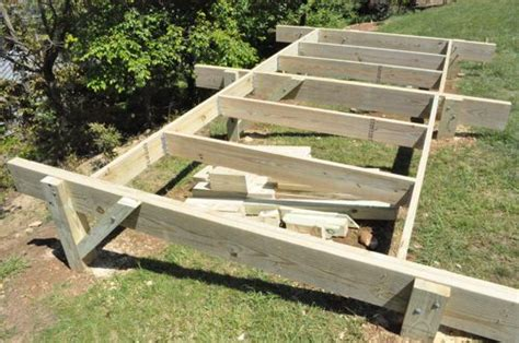 Shed Base On A Slope by How To Build A Post Beam Shed Foundation On A Slope