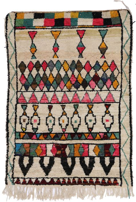 bohemian style rugs mid century mordern berber moroccan rug with colorful bohemian style for sale at 1stdibs