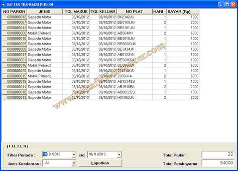 membuat barcode di vb sistem informasi parkir kendaraan berbasis barcode dan