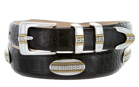 st gold mens leather designer dress and golf belt