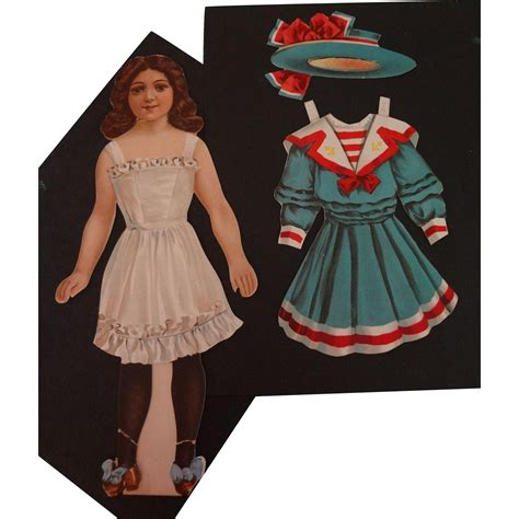paper dolls book five paper doll with five dresses two hats from jackieeverett