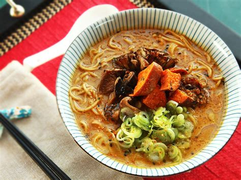 ramen noodle soup recipes vegetable the ultimate rich and vegan ramen with roasted