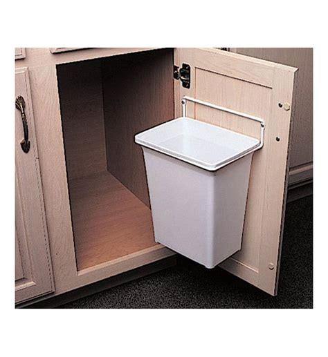 trash can cabinet door mounted trash can in cabinet trash cans