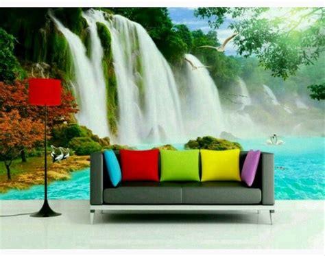 desain wallpaper dinding pemandangan alam kumpulan