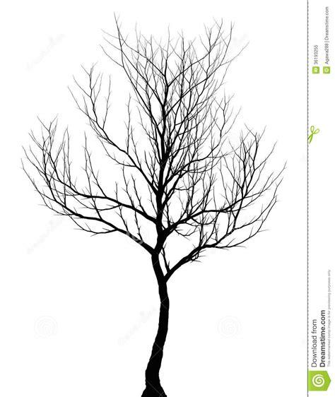 Tree Simple Dark Silhouette Isolated Stock Illustration