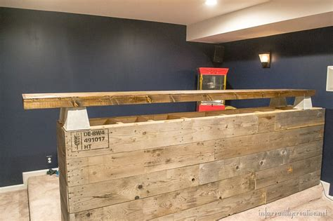 how to build a wood bar top man cave wood pallet bar free diy plans