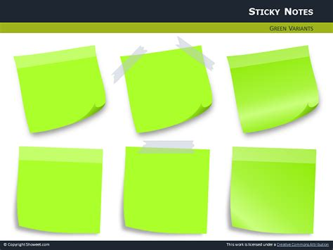 Sticky Notes With Pins For Powerpoint Editable Post It Note Template