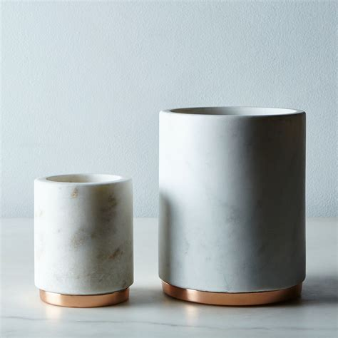 modern kitchen canisters marble metal canister on food52