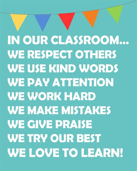 printable poster classroom rules teacher appreciation archives happy go lucky