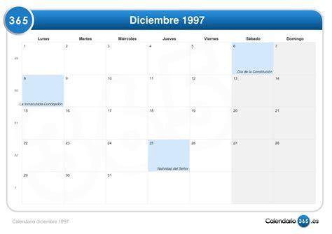 Calendario Diciembre 1998 Calendario Diciembre 1997