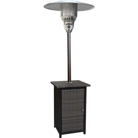 41000 Btu Patio Heater by Hanover 7 Ft 41 000 Btu Brown Square Wicker Propane Gas