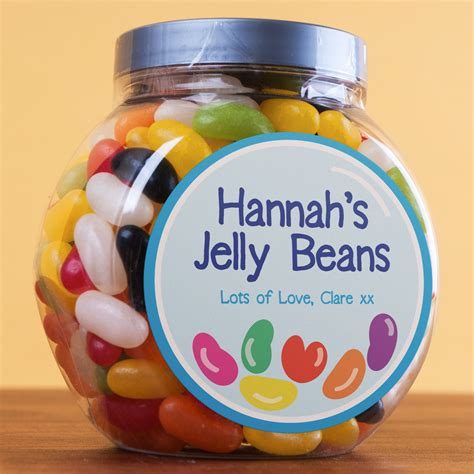 personalised beans jar jelly heart gettingpersonalcouk