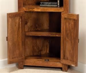 corner bookcase wood solid mango wood corner bookcase casa indian