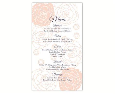 wedding menu card templates diy wedding menu template diy menu card template editable text