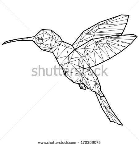 geometric hummingbird tattoo geometric hummingbird tattoo tattoo you pinterest