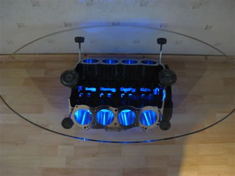 V8 Engine Block Coffee Table V8 Coffee Table