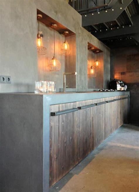 keuken hout en beton stoere keuken met beton staal en hout interieur inrichting
