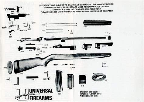 m1 carbine parts diagram universal m1 carbine manual