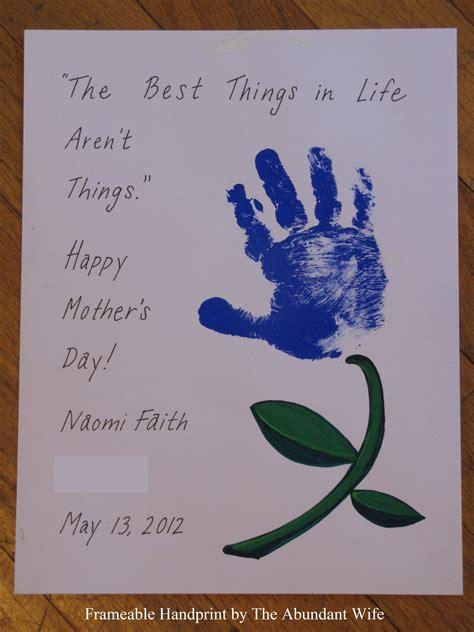 card handprint happy mother s day diy handprint flowers the abundant