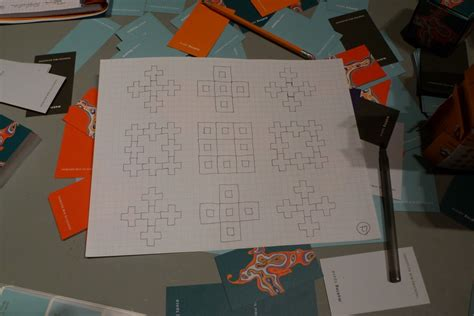how to make a fractal card business card origami institute for figuring