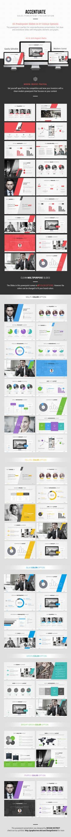 powerpoint template by design district via behance pinterest the world s catalog of ideas