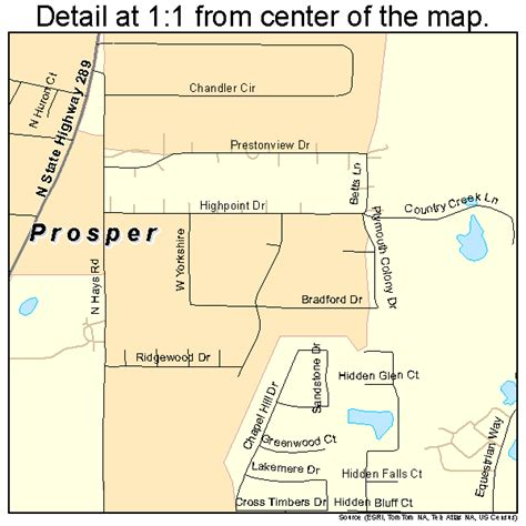 map of prosper texas prosper tx map my