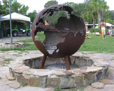 the globe firepit at wekiva island picture of wekiva