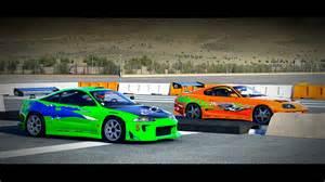 Mitsubishi Eclipse Racing Forza 6 Fast And Furious Toyota Supra Vs Mitsubishi