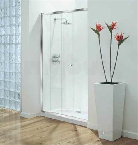 Coram Optima 1000mm Sliding Door Wh Cl Door Only Coram Coram Shower Doors