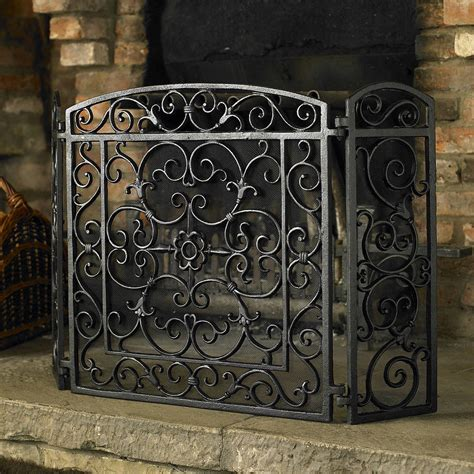 Cast Iron Fireplace Doors by Ornate Antique Style Cast Iron Screen Cast Iron