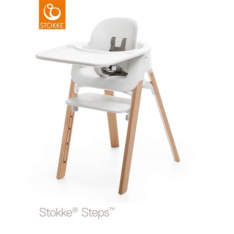 chaise steps stokke tablette chaise steps blanc de stokke sur allob 233 b 233