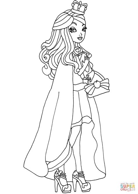 ever after high coloring pages legacy day ever after high legacy day apple coloring page free
